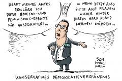 CDU-Initiative: Konservative wollen konservativer werden, Feminismusdebatte: #metoo, Feminismus und Gendering und die Gegenwehr