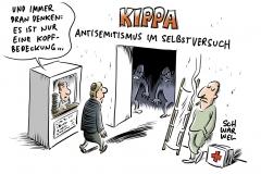 Attacke gegen Mann mit Kippa: Antisemitischer Schläger stellt sich der Polizei