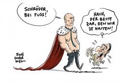 Putin zur vierten Amstzeit vereidigt: Ex-Kanzler Schröder einer von drei Handschlag-Gratulanten