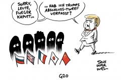 Zwischenfall bei Flug zu G20: Panne beim Merkel-Flieger – Bauteil war schuld