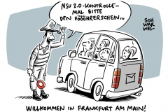 """Verdacht auf rechtes Polizei-Netzwerk: In FFM sollen Beamte Drohbrief im Namen des """"NSU 2.0"""" verschickt haben"""