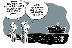 Blockierte Rettungsschiffe im Mittelmeer: Papst appelliert an Regierungschefs