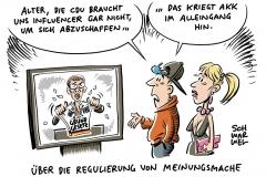"""Nach Aussage zur """"Meinungsmache"""" auf YouTube: CDU-Chefin verteidigt sich"""