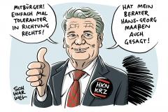 """Ex-Bundespräsident wirbt für Konformität: Gauck stößt mit Forderung nach """"Toleranz in Richtung rechts"""" auf Kritik"""