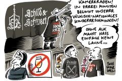 Neonazi-Festival in Ostritz/Sachsen: Polizei beschlagnahmt Tausende Liter Bier, Ostritzer kaufen Biervorräte weg