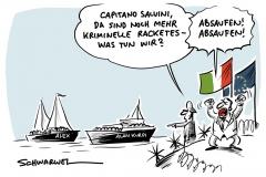 """Flucht nach Europa, Italien verweigert sich: Italienische NGO rettet Flüchtende aus Seenot, deutsches Rettungsschiff """"Alan Kurdi"""" nimmt 65 Geflüchtete an Bord"""