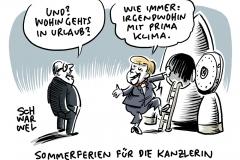 Letzte PK vor Sommerpause: Merkel bekennt sich zu Klimazielen 2030 und Preis auf CO2-Ausstoß