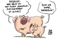 Nach Schweinefleischverzicht in Leipziger Kitas: Ex-AfDler Poggenburg will vor Kitas demonstrieren