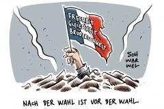 karikatur-schwarwel-macron-le-pen-wahl-frankreich-praesident