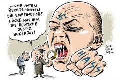 karikatur-schwarwel-rechts-rechtsextrem-nazi-straftaten