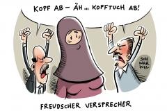 karikatur-schwarwel-kopftuch-verbot-job-arbeitgeber-eugh
