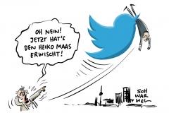 Twitter-Protest gegen NetzDG: Maas-Tweet über Thilo Sarrazin gelöscht