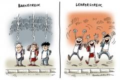 schwarwel-karikatur-lehrerstreik-schueler-ausfallstunden
