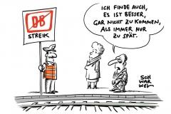 Bundesweite Bahnstreiks zum Wochenstart