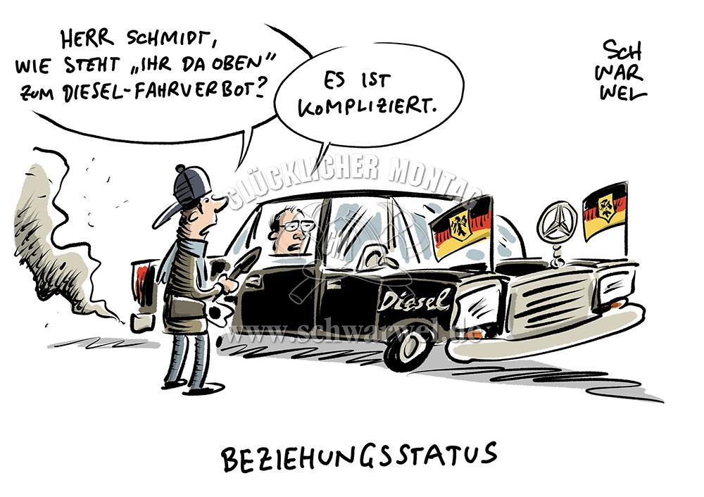 Abgasskandal Dieselskandal Schwarwel Karikatur
