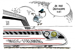 schwarwel-karikatur-apple-spotify-music-streaming