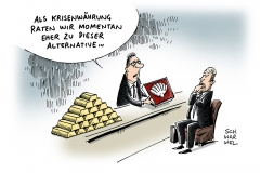 schwarwel-karikatur-tiefpreise-krisenwaehrung