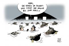 schwarwel-karikatur-milchbauer-protest-preisverfall
