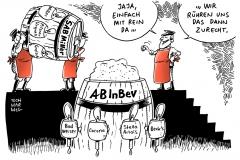 schwarwel-karikatur-sabmiller-bier-fusion-uebernahme-becks-budweiser