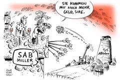 schwarwel-karikatur-sab-miller-bier-abinbev-uebernahme