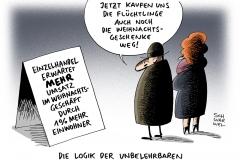 schwarwel-karikatur-weihnachtsgeschaeft-umsatz-fluechtlinge-besorgter-buerger