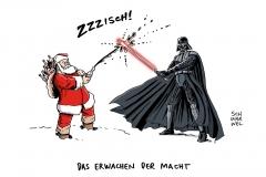 karikatur-schwarwel-star-wars-merchandise-weihnachtsmann-weihnachten