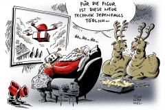 karikatur-schwarwel-drohne-weihnachtsmann-fernsteuerung