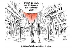karikatur-schwarwel-bargeld-bargeldlos-zahlungsverkehr