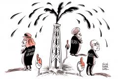 karikatur-schwarwel-oel-doha-ölpreis-ölförderung-russland-iran-saudi-arabien