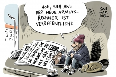 karikatur-schwarwel-armut-arm-reichtum-reich-deutschland