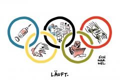 karikatur-schwarwel-olympia-rio-doping-demonstration-drohung