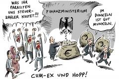 karikatur-schwarwel-cum-ex-cum-cum-skandal-kriminalitaet-wirtschaft-betrug-steuertricks-finanzkriminalitaet