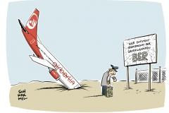 Angeschlagene Fluglinie Air Berlin meldet Insolvenz an: Bundesregierung gibt Kredit