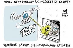 Debatte um das NetzDG: Auch Gagschreiber und Satirezeitschriften betroffen