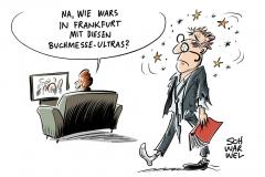 Tumulte bei Veranstaltung des rechten Antaios-Verlag: Linke und rechte Gruppen bei Frankfurter Buchmesse
