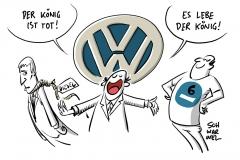 Drohende Fahrverbote in Abgasaffäre: Autokonzerne liebäugeln mit Blauer Plakette – als Werbemittel für Diesel, Volkswagen: VW-Chef Müller muss gehen, Markenchef Diess wird Nachfolger