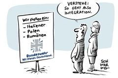 Personalnot bei der Bundeswehr: Von der Leyen will Italiener, Polen und Rumänen anwerben